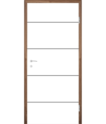 Bíle lakované interiérové dveře s drážkami COLORline - MODENA R6L
