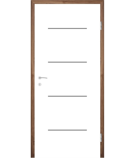 Bíle lakované interiérové dveře s drážkami COLORline - MODENA R7L