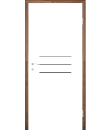 Picture of Bíle lakované interiérové dveře s drážkami COLORline - MODENA R8L