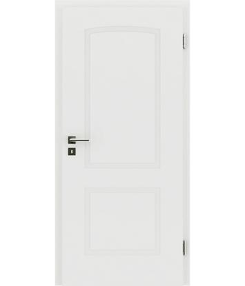 Picture of Bíle lakované interiérové dveře s reliéfy KAISERline KAISERline - R40L s obloukem, bíle lakováno