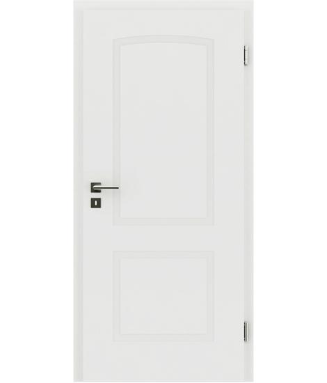 Bíle lakované interiérové dveře s reliéfy KAISERline KAISERline - R40L s obloukem, bíle lakováno