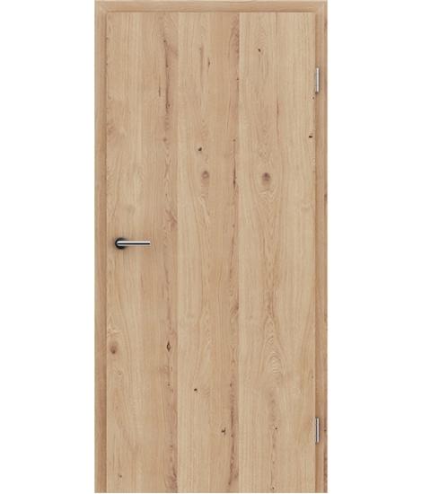 Dýhované interiérové dveře s vertikální strukturo GREENline - dub sukatý rozpraskaný kartáčovaný mat louhovaný lakovaný