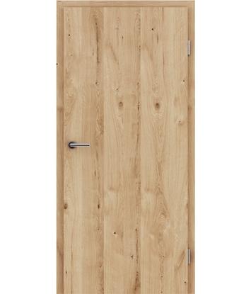 Dýhované interiérové dveře s vertikální strukturo GREENline - dub sukatý rozpraskaný kartáčovaný natur lakovaný