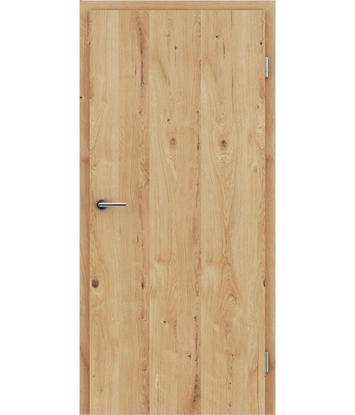 Dýhované interiérové dveře s vertikální strukturo GREENline - dub sukatý rozpraskaný kartáčovaný olejovaný