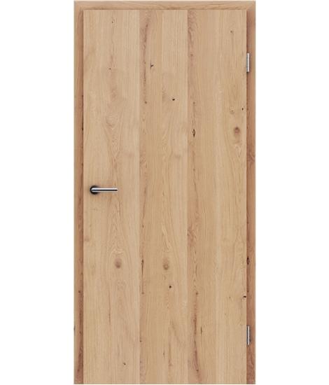 Dýhované interiérové dveře s vertikální strukturo GREENline - dub sukatý rozpraskaný mat louhovaný lakovaný