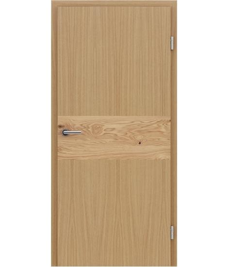 Dýhované interiérové dveře s intarziemi HIGHline - I39 dub, intarzie dub sukatý