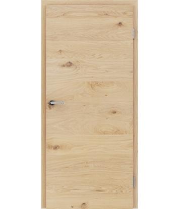 Dýhované interiérové dveře s vertikální a/nebo horizontální strukturou VIVACEline - F4 dub sukatý kartáčovaný bíle olejovaný