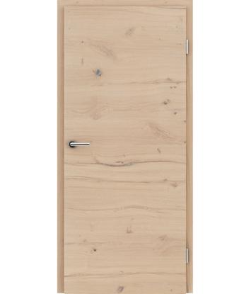 Dýhované interiérové dveře s vertikální a/nebo horizontální strukturou VIVACEline - F4 dub sukatý rozpraskaný kartáčovaný bíle olejovaný
