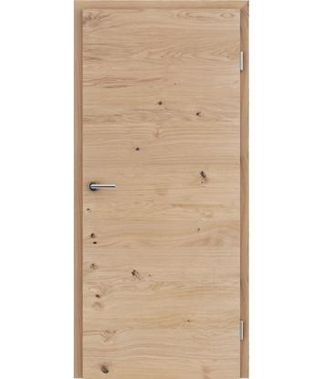Dýhované interiérové dveře s vertikální a/nebo horizontální strukturou VIVACEline - F4 dub sukatý rozpraskaný kartáčovaný mat louhovaný lakovaný