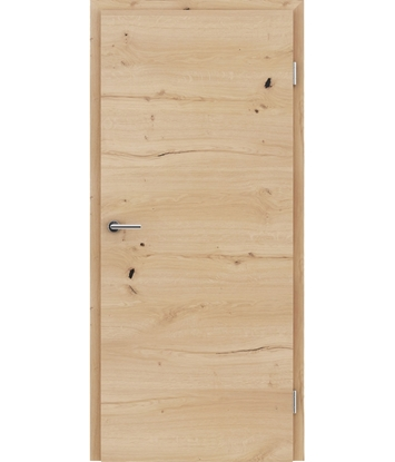 Dýhované interiérové dveře s vertikální a/nebo horizontální strukturou VIVACEline - F4 dub sukatý rozpraskaný kartáčovaný olejovaný