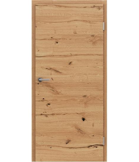 Dýhované interiérové dveře s vertikální a/nebo horizontální strukturou VIVACEline - F4 dub sukatý rozpraskaný natur lakovaný