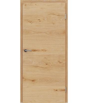 Dýhované interiérové dveře s vertikální a/nebo horizontální strukturou VIVACEline - F4 dub sukatý s bílými póry
