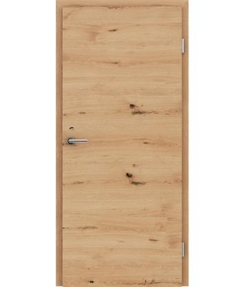 Dýhované interiérové dveře s vertikální a/nebo horizontální strukturou VIVACEline - F4 dub sukatý rozpraskaný kartáčovaný natur lakovaný