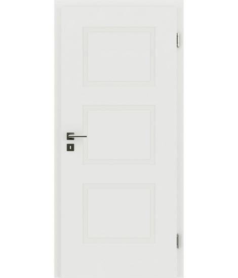 Bíle lakované interiérové dveře s reliéfy KAISERline KAISERline - R49L, bíle lakováno