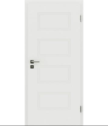 Picture of Bíle lakované interiérové dveře s reliéfy KAISERline KAISERline - R71L, bíle lakováno