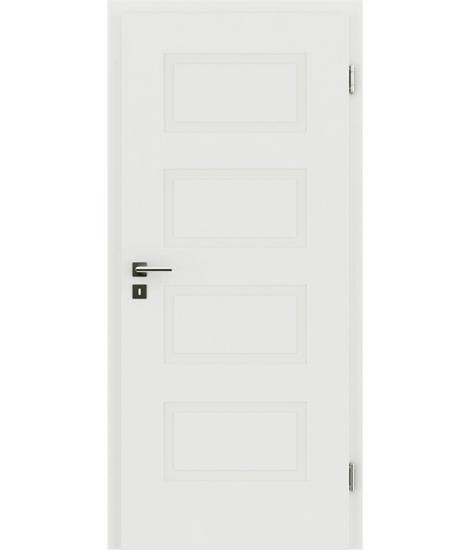 Bíle lakované interiérové dveře s reliéfy KAISERline KAISERline - R71L, bíle lakováno